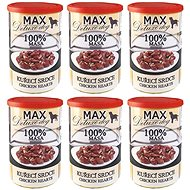 MAX chicken heart 400 g, 6 pcs - Canned Dog Food