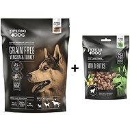 PrimaDog Zvěřina s krůtou bez obilovin, pro dospělé psy s citlivým trávením 1,5 kg + Pamlsek 100 g