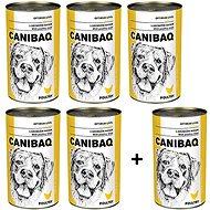 Canibaq Classic Drůbeží 5 × 1250g + 1 zdarma - Konzerva pro psy