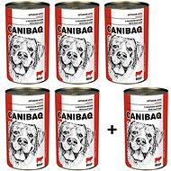 Canibaq Classic Hovězí 5 × 1250g + 1 zdarma - Konzerva pro psy