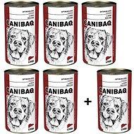 Canibaq Classic Játra 5 × 1250g + 1 zdarma - Konzerva pro psy