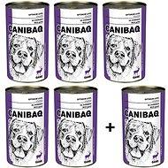 Canibaq Classic Zvěřina 5 × 1250g + 1 zdarma - Konzerva pro psy