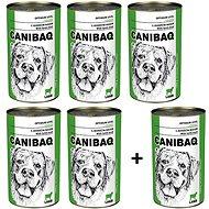 Canibaq Classic Jehněčí 5 × 1250g + 1 zdarma - Konzerva pro psy