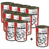 Canibaq Classic Hovězí 9 × 415g + 1 zdarma - Konzerva pro psy