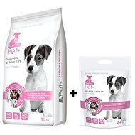 ThePet+ 3in1 Dog Puppies Salmon & Poultry 12kg + 2,8kg zdarma - Granule pro štěňata