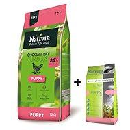 Nativia Puppy - Chicken & Rice 15 kg + 3 kg zdarma - Granule pro štěňata