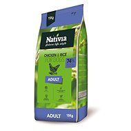 Nativia Adult - Chicken & Rice 15 kg - Granule pro psy