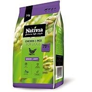 Nativia Senior & Light - Chicken & Rice 3 kg - Granule pro psy