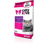 Cat´s Love Castrated 1,5 kg - Granule pro kočky