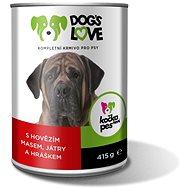 Dog´s Love hovězí s játry a zeleninou 415 g - Konzerva pro psy