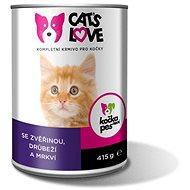 Cat´s Love zvěřina, drůbež s mrkví 415 g - Konzerva pro kočky