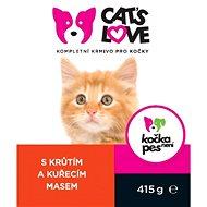 Cat´s Love krůta s kuřecím 415 g - Konzerva pro kočky
