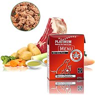 Platinum natural menu beef chicken 375 g