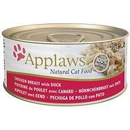 Applaws konzerva Cat kuřecí prsa a kachna  70 g