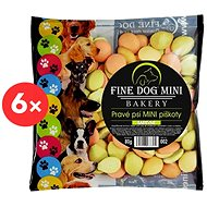 Fine Dog Bakery Mini Sponge Cookies for Small Dog Breeds 6 × 80g Coloured - Dog Biscuits