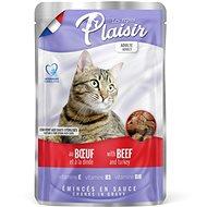 Plaisir Cat kapsička hovězí + krocan 22 × 100 g - Kapsička pro kočky