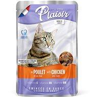 Plaisir Cat kapsička kuřecí  +  játra 22 × 100 g - Kapsička pro kočky