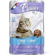 Plaisir Cat kapsička pstruh + krevety 22 × 100 g - Kapsička pro kočky