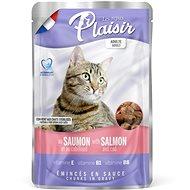Plaisir Cat kapsička losos + treska 22 × 100 g  - Kapsička pro kočky