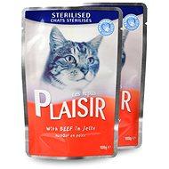 Plaisir Cat kapsička sterilised hovězí v želé 22 × 100 g