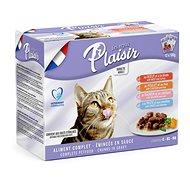 Plaisir Cat kapsičky mix multipack 12 × 100 g - Kapsička pro kočky