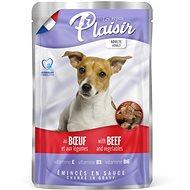 Plaisir Dog kapsička hovězí se zeleninou 22 × 100 g - Kapsička pro psy