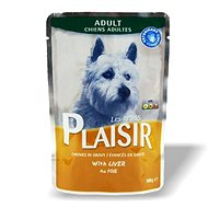 Plaisir Dog kapsička s játry 22 × 100 g