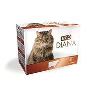 Eco Diana cat kapsičky hovězí kousky v omáčce 12 × 100 g - Kapsička pro kočky
