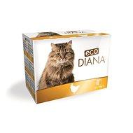 Eco Diana cat kapsičky kuřecí kousky v omáčce 12 × 100 g - Kapsička pro kočky