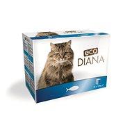 Eco Diana cat kapsičky rybí kousky v omáčce 12 × 100 g - Kapsička pro kočky