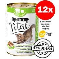 Konzerva Cat Vital 47% masa hovězí + krůtí 12 × 415 g - Konzerva pro kočky