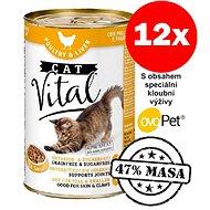 Konzerva Cat Vital 47% masa drůbeží + játra 12 × 415 g