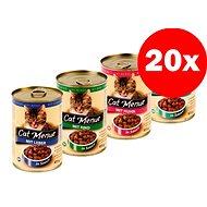 Konzerva Cat Menue mix balení - 4 příchutě - kuřecí, hovězí, játra, ryba - 20 × 415 g