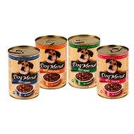 Konzerva Dog Menue mix balení - 4 příchutě - hovězí, drůbeží, játra, kuřecí - 20 × 415  g - Konzerva pro psy