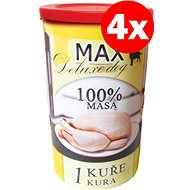 MAX Deluxe 1  Chicken 1200g, 4 pcs - Canned Dog Food