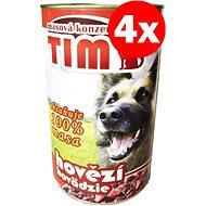 TIM hovězí 1200 g, 4 ks - Konzerva pro psy