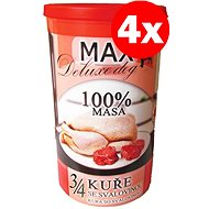 MAX deluxe 3/4  kuřete se svalovinou 1200 g, 4 ks