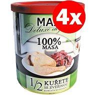 MAX deluxe 1/2  kuřete se zvěřinou 800 g, 4 ks - Konzerva pro psy