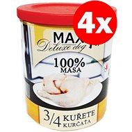 MAX deluxe 3/4  kuřete 800 g, 4 ks - Konzerva pro psy