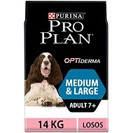 Pro Plan medium large adult 7+ optiderma losos 14 kg