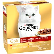 Gourmet Gold 12 (8 × 85g) - Pieces in Gravy - Canned Food for Cats