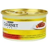 Gourmet gold - 85 g hov/kuře v raj. om., duš. a gril. kousky v om. - Konzerva pro kočky