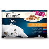 Gourmet perle (4 × 85 g) - minifiletky ve šťávě - Kapsička pro kočky