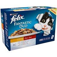 Felix fantastic duo (12 × 100 g) - lahodný výběr - Kapsička pro kočky