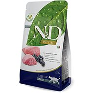 N&D grain free CAT Adult Lamb & Blueberry 5kg - Granule pro kočky
