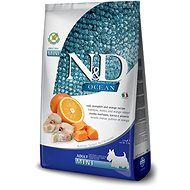 N&D grain free pumpkin dog adult mini codfish & orange 7 kg