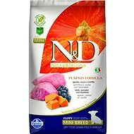 N&D grain free pumpkin dog puppy mini lamb & blueberry 2,5 kg - Granule pro štěňata