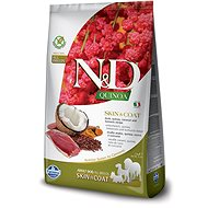 N&D grain free quinoa dog skin & coat duck & coconut 7 kg - Granule pro psy
