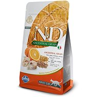 N&D low grain cat adult codfish & orange 5 kg - Granule pro kočky