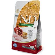 N&D low grain cat adult chicken & pomegranate 5 kg - Granule pro kočky